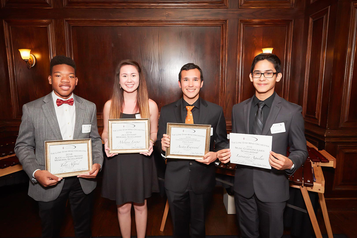 lone star wind orchestra, scholarship recipients, music scholarships, youth music education, orchestra dallas tx