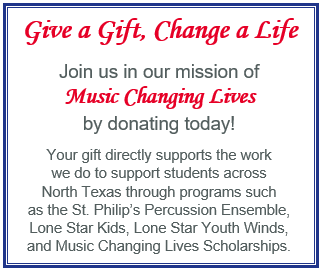 fundraiser for orchestra and band student scholarships